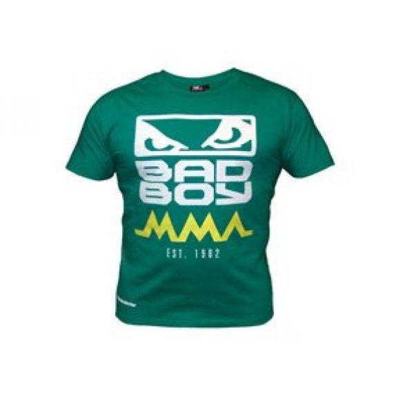 Зелена тениска с лого на гърдите BAD BOYЗелена тениска с лого на гърдите BAD BOY