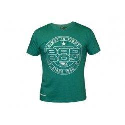 Зелена тениска с лого тип кръгъл печат на  Bad Boy