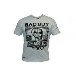 Сива тениска с щампa юмрук Bad Boy