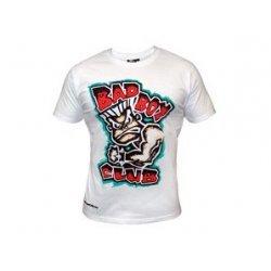 Бяла тениска с картинка и червен надпис Bad Boy