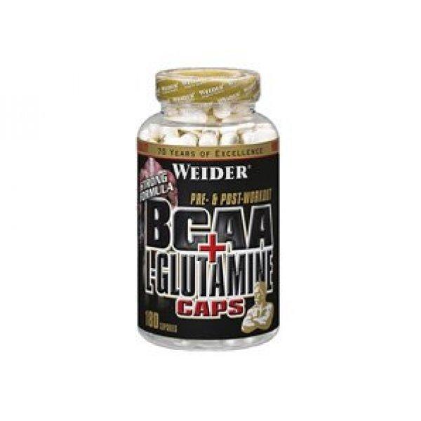 Weider BCAA + L-Glutamine 180 капсулиWeider BCAA + L-Glutamine 180 капсули
