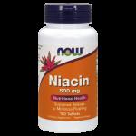 NOW Витамин B3 (Niacin) 500 мг 100 таблеткиNOW4801