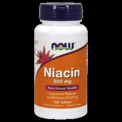 NOW Витамин B3 (Niacin) 500 мг 100 таблетки