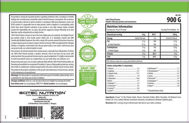Scitec 100% Plant Protein 900 гр 1